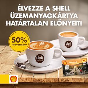 Van Shell üzemanyagkártyád? Mi álljuk a kávéd árának 50%-át!